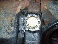 エンジンブロックのフリーズプラグ