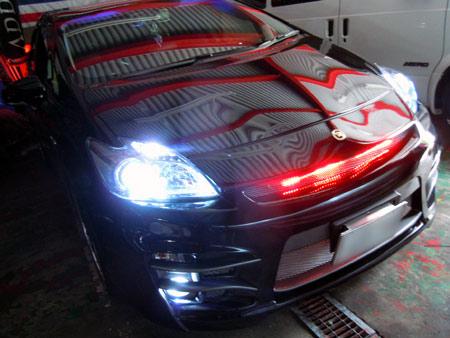 プリウス HID 施工 大阪 専門店 カスタム パーツ LED ガレージアクト GAインターナショナル株式会社